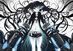 Anime Blue Girl 4K Wallpaper