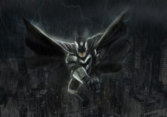 Anime Batman Black Monochrome 4K Wallpaper