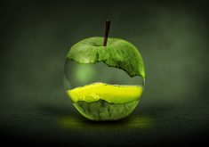 Apple Green Juice Fantasy 4K Wallpaper