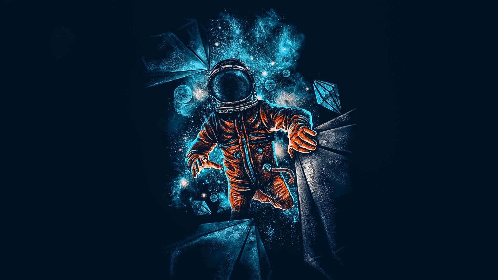 Hd Wallpapers For Samsung Galaxy S6 Edge Wallpapers Part 2: Artistic Spaceman Blue Orange 4K Wallpaper