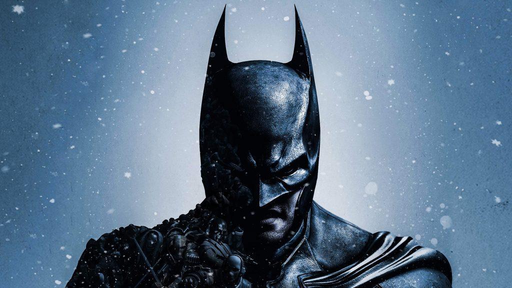 Batman Black Monochrome Illustration 4K Wallpaper