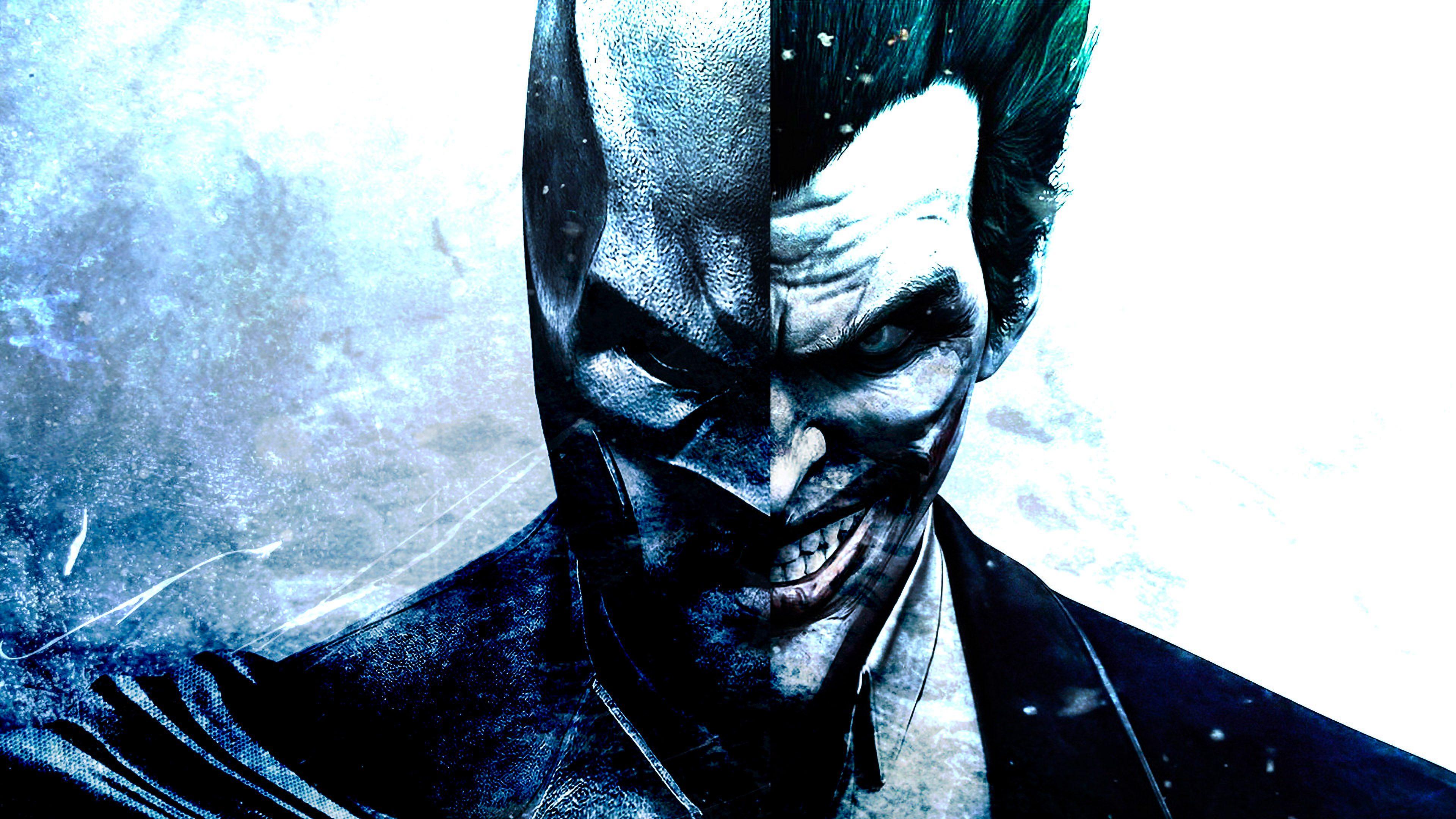 Batman Joker Face 4K Wallpaper - Best Wallpapers