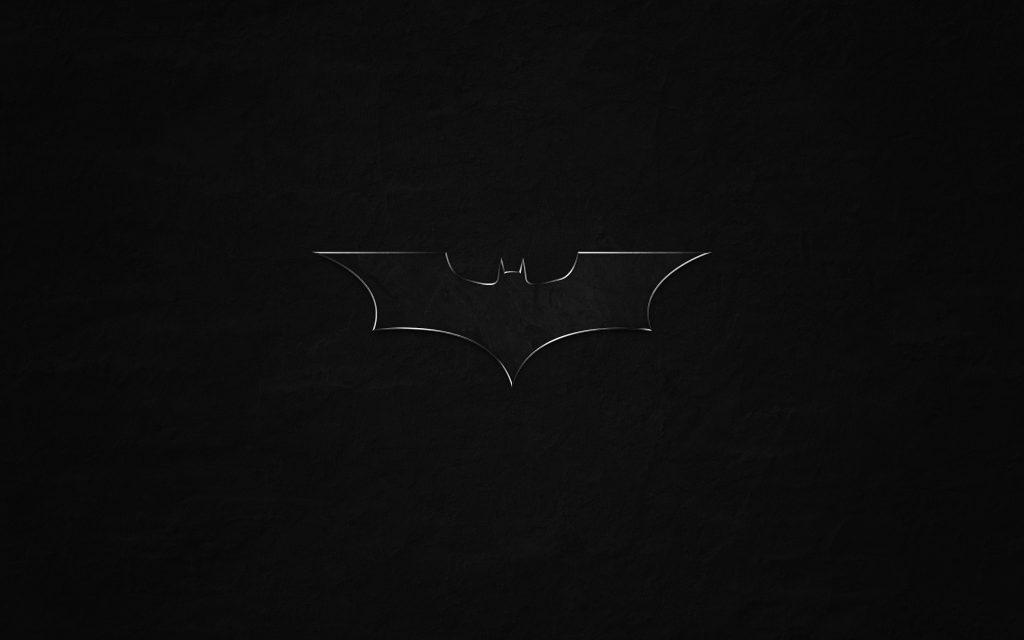 Batman Logo Monochrome Bat Game Movie 4K Wallpaper