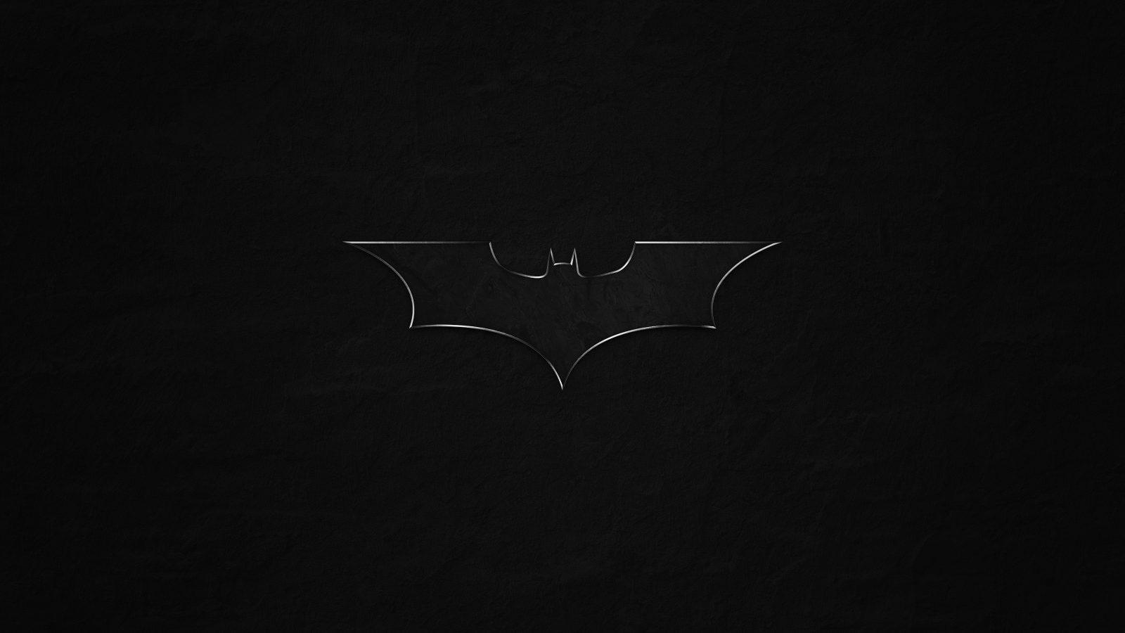 Batman Logo Monochrome Bat Game Movie 4k Wallpaper Best Wallpapers
