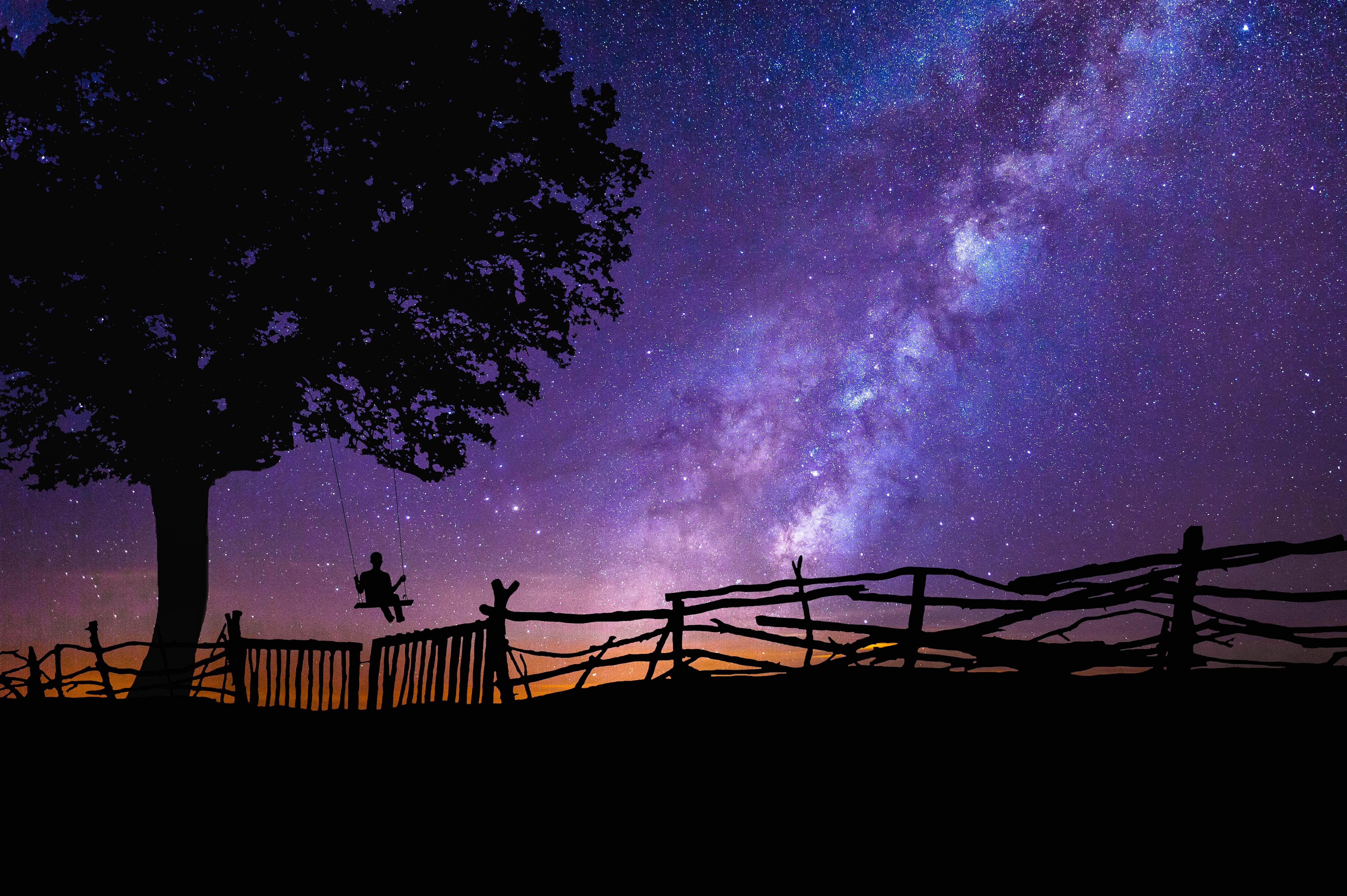 Good Wallpaper Night Galaxy - blue-purple-night-galaxy-stars-tree-person-swing-4k-wallpaper  Collection-39994.jpg