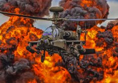 Boeing AH-64 Apache Military Helicopter Fire Smoke 4K Wallpaper