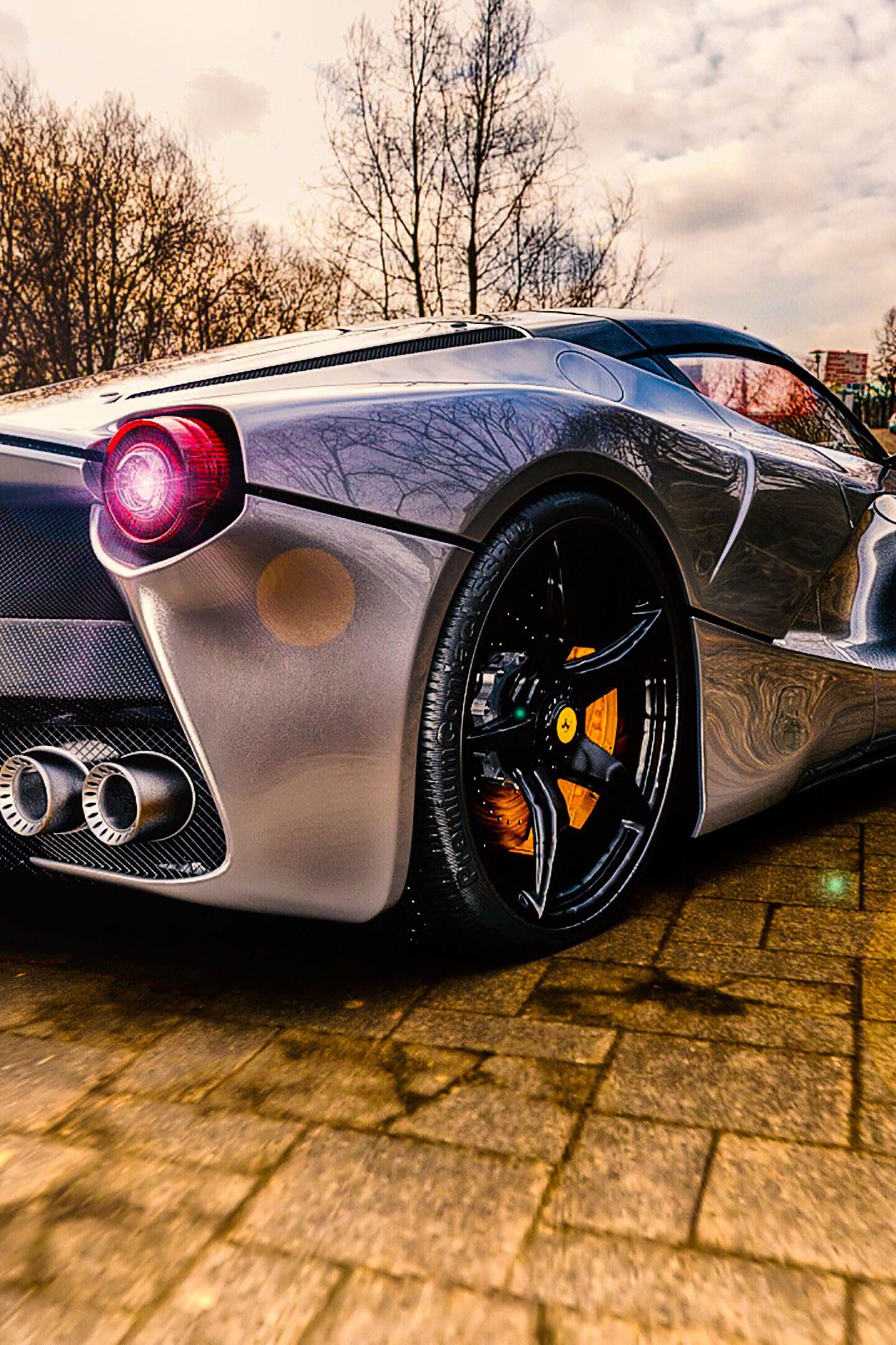 Car Ferrari Sport Car Silver Luxury Car 4k Wallpaper Best Wallpapers