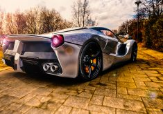Car Ferrari Sport Car Silver Luxury Car 4K Wallpaper