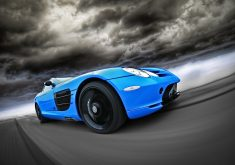 Car Sport Car Blue 4K Wallpaper