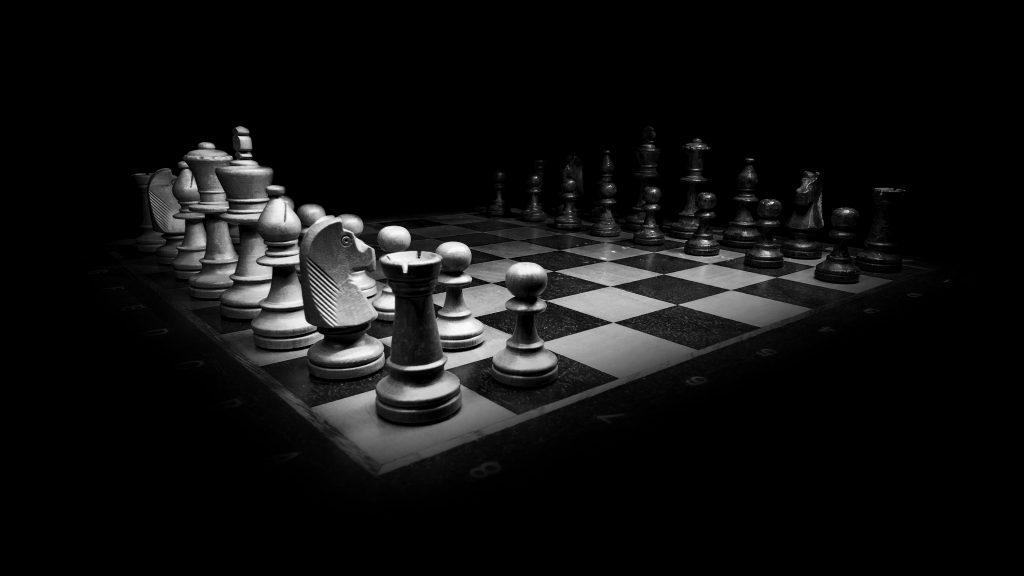 Chess Game Monochrome 4K Wallpaper