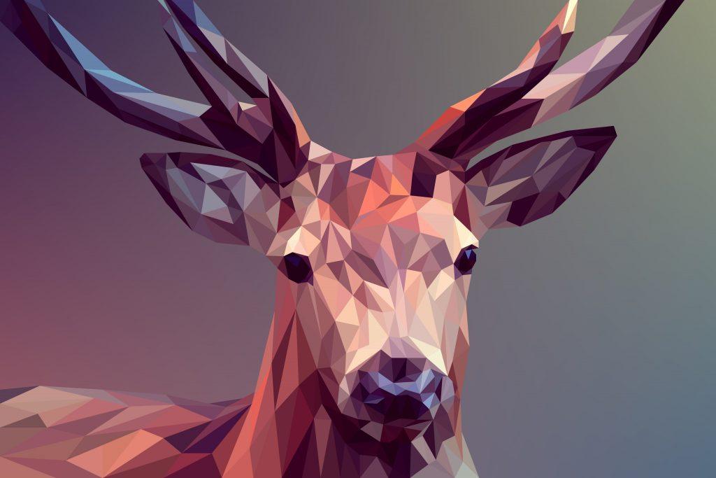 Creative Artistic Deer 8K Wallpaper