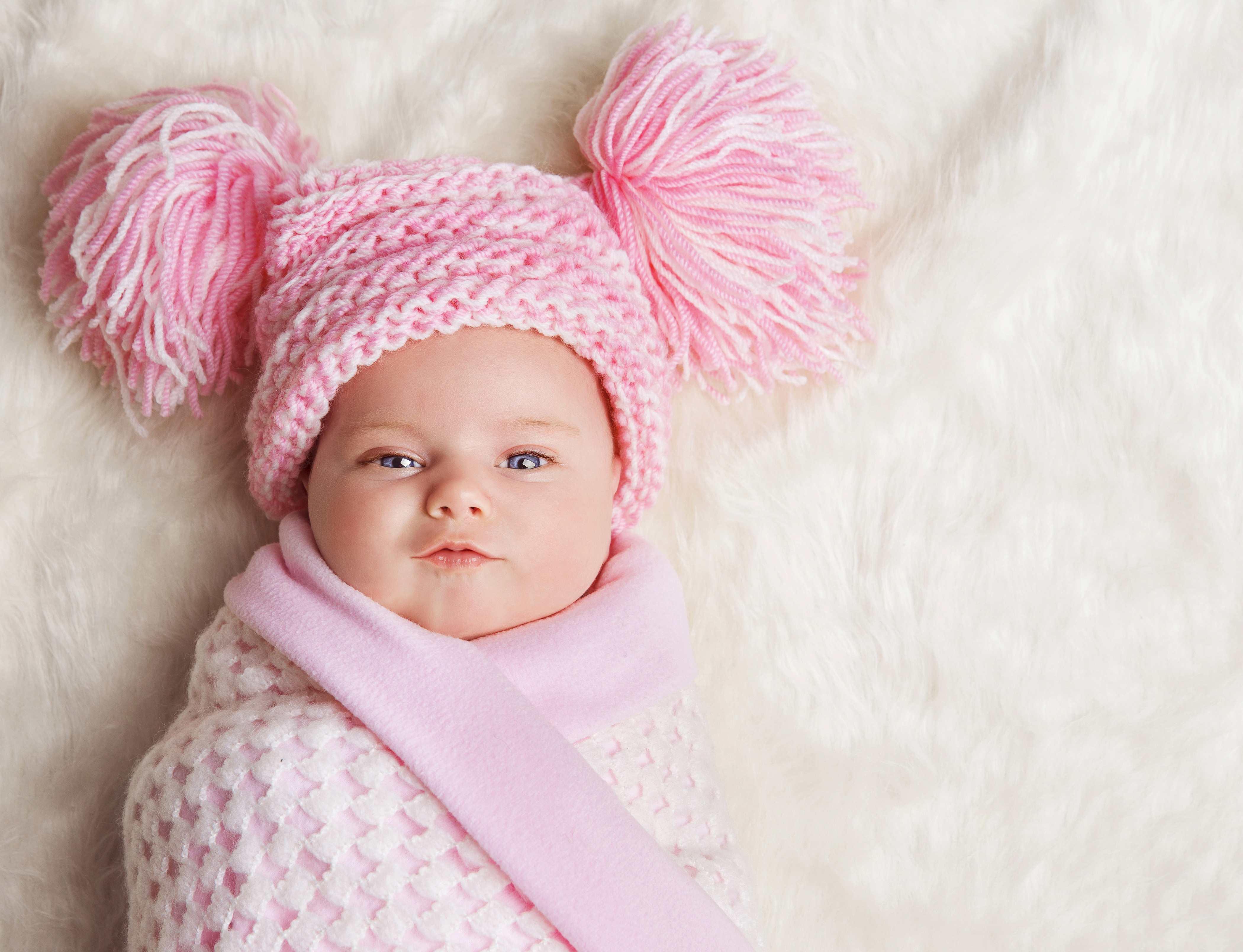 Cute Girl Baby Kid Child Pink 4K Wallpaper - Best Wallpapers