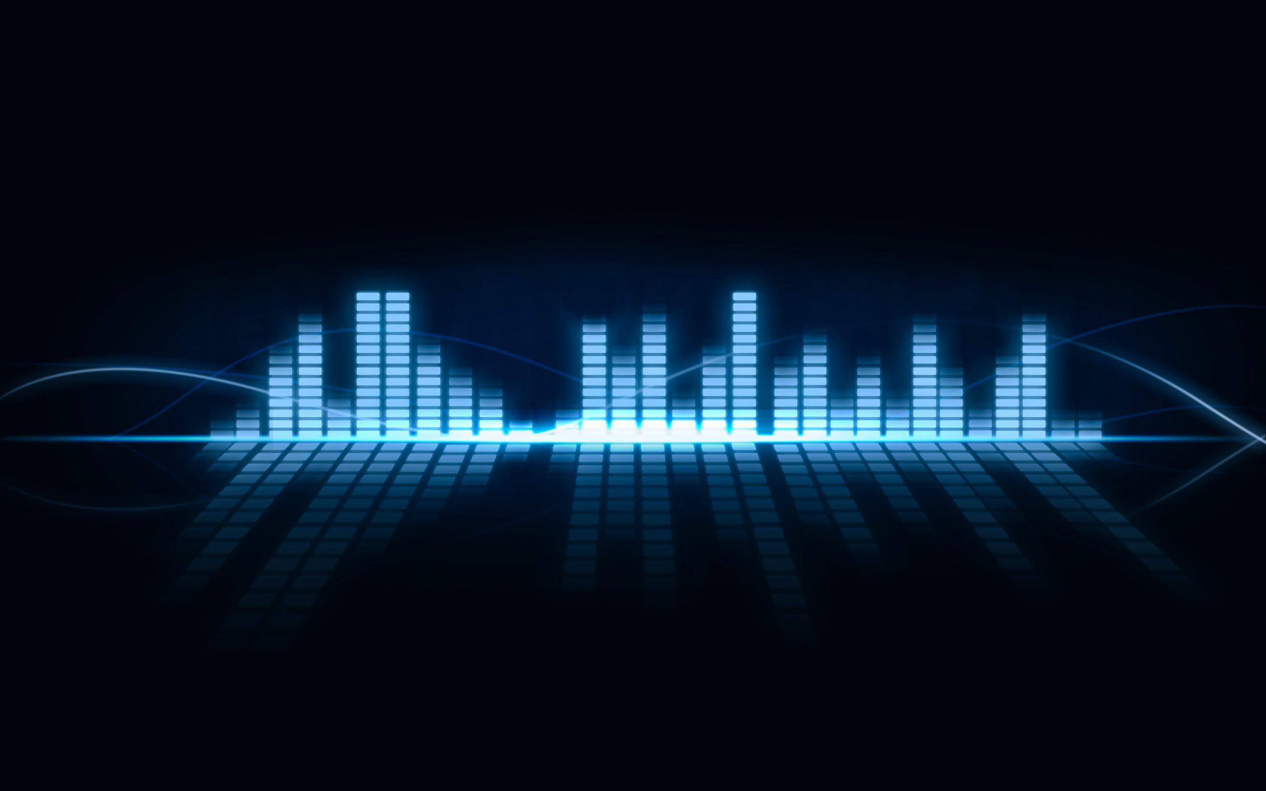 Equaliser Music Bar Blue 4k Wallpaper Best Wallpapers