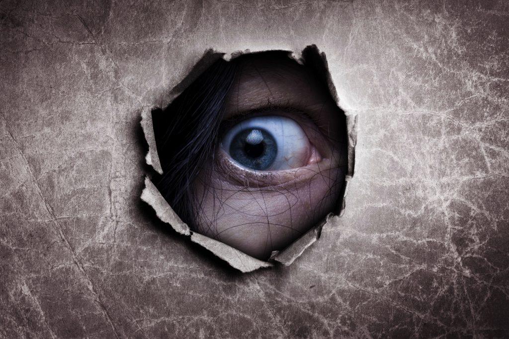Eye Paper Hole 4K Wallpaper