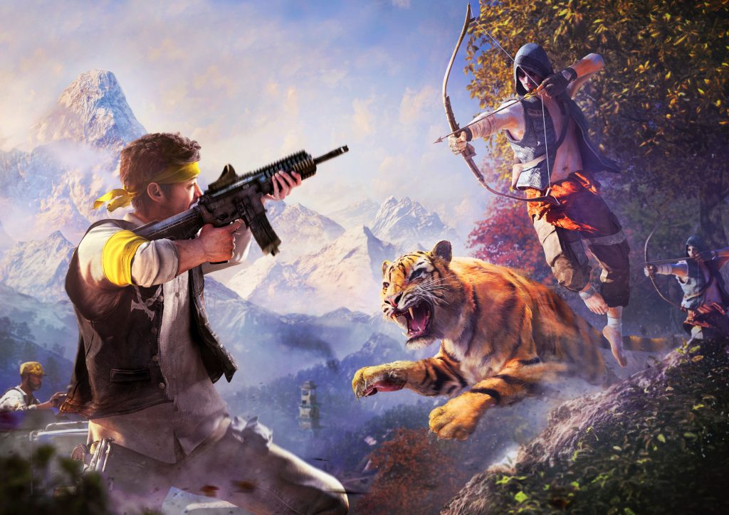 Far Cry 4 Game Tiger Arrow 4K Wallpaper