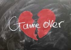 Game Over Broken Heart Red 4K Wallpaper