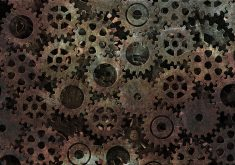 Gear Pattern Texture Rust Metal 4K Wallpaper