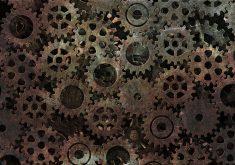 Gear Pattern Texture Rust Metal 4K Wallpaper