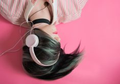 Girl Beautiful Headphone Pink Music 4K Wallpaper