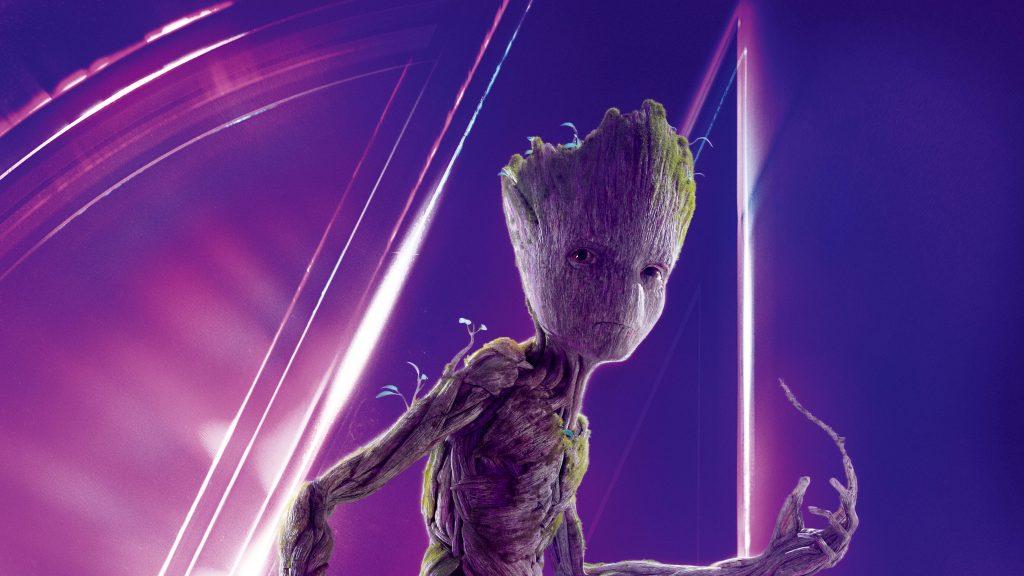 Groot Avengers Infinity War Poster 8K Wallpaper