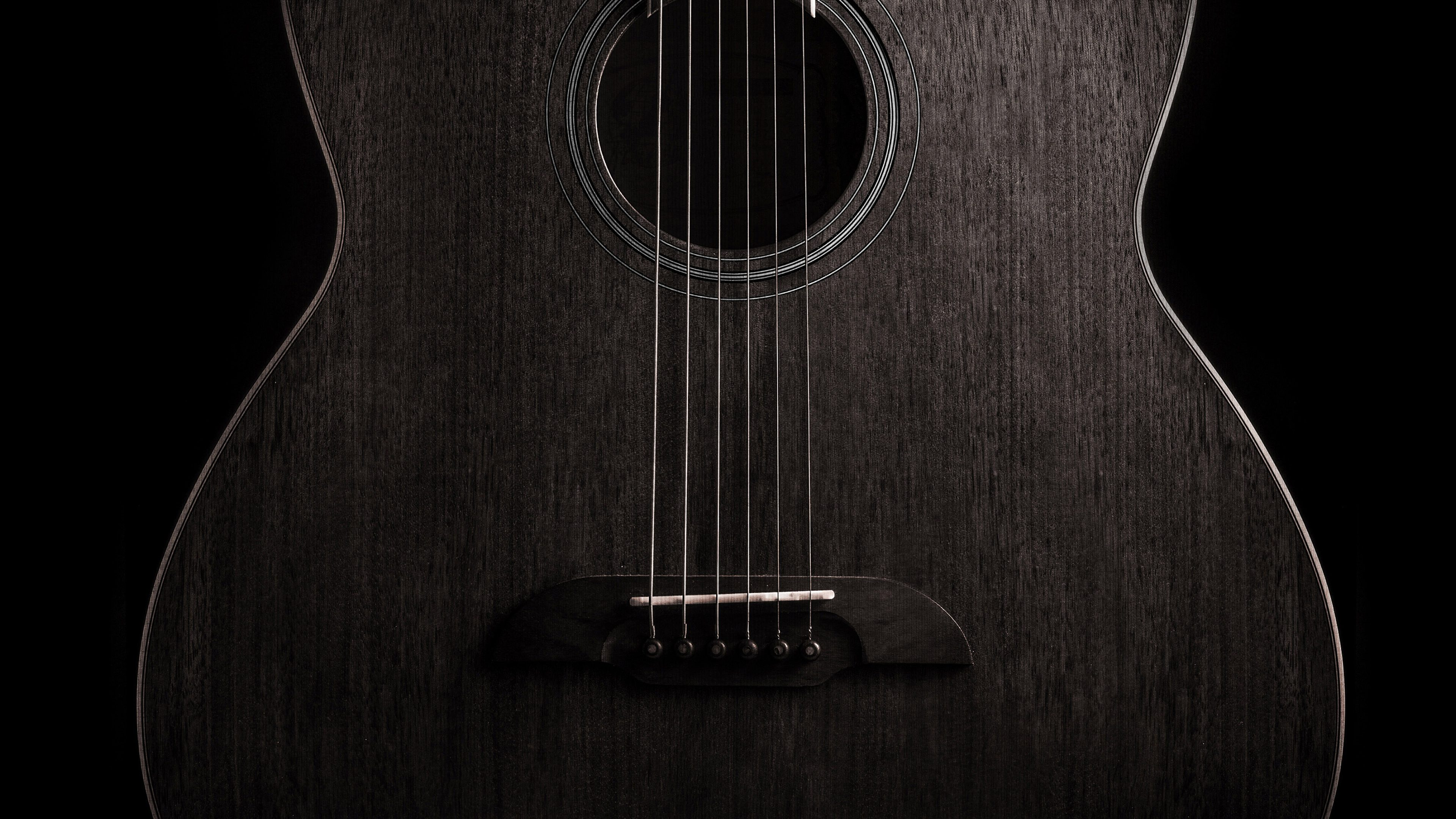 Guitar Dark Music Instrument 4k Wallpaper Best Wallpapers