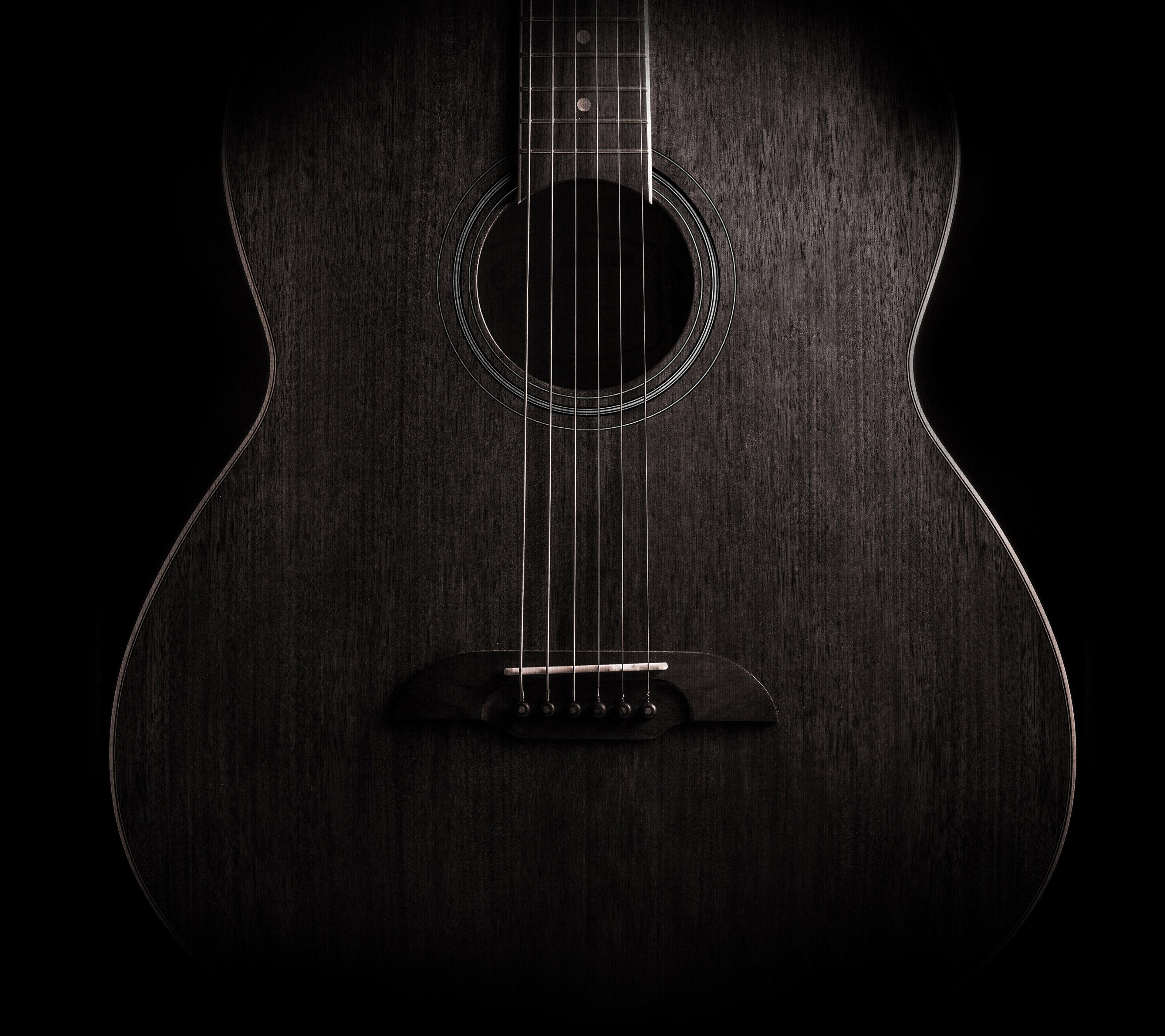 Guitar Dark Music Instrument 4K Wallpaper - Best Wallpapers