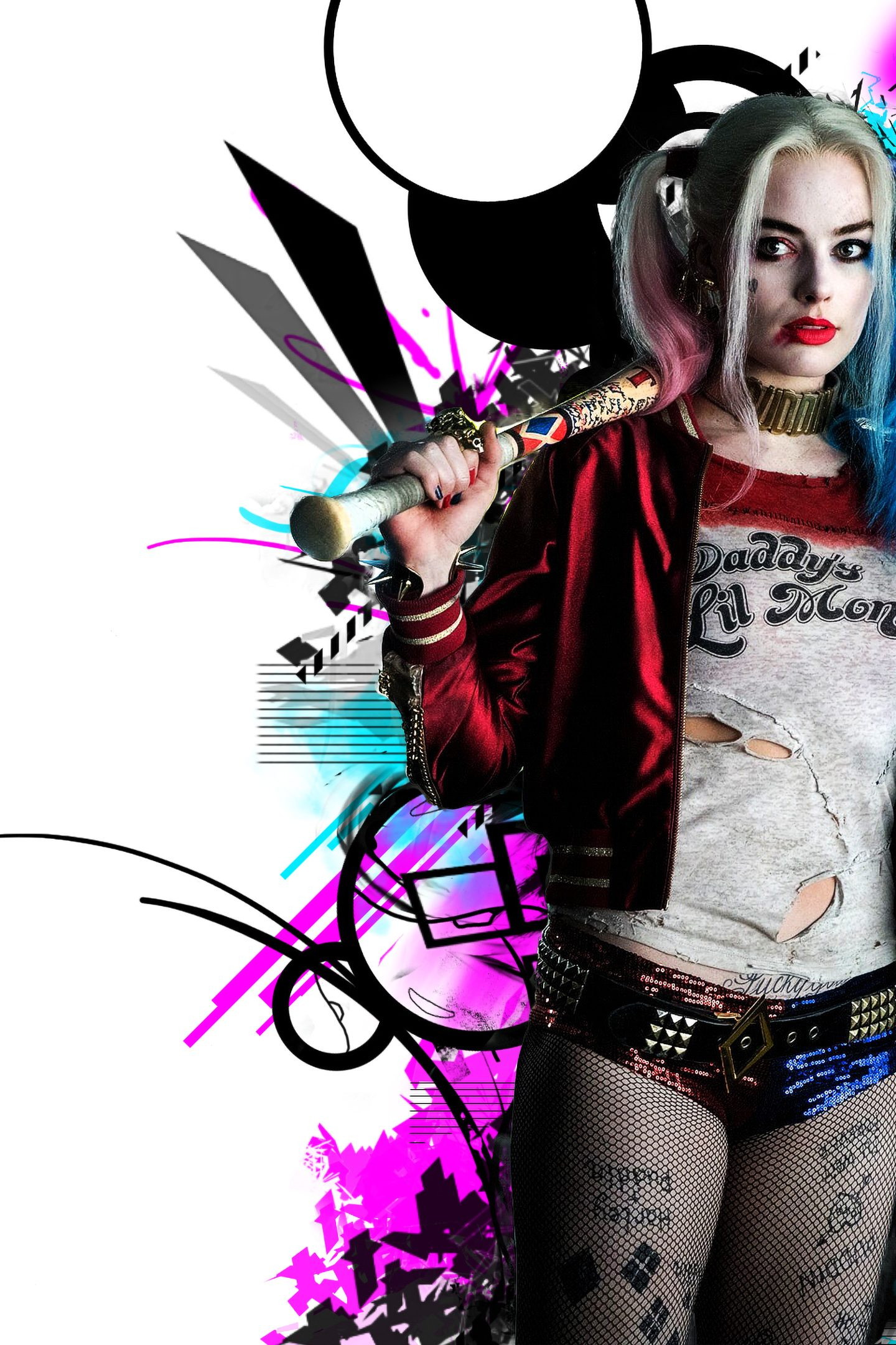 Harley Quinn Suicide Squad Red Blue 4k Wallpaper Best Wallpapers