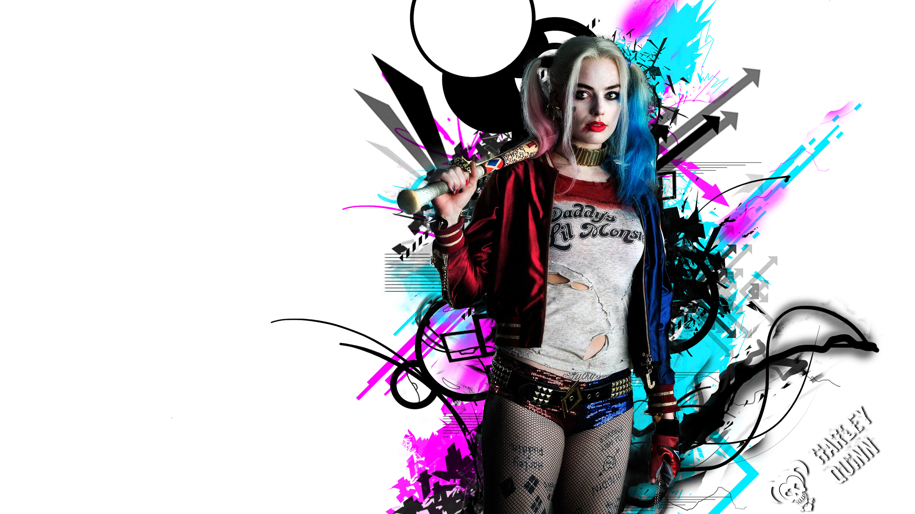 Harley Quinn 4k Hd Wallpapers: Harley Quinn Suicide Squad Red Blue 4K Wallpaper