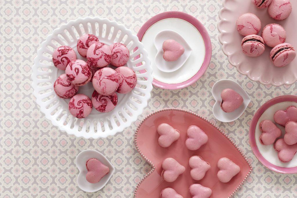 Heart Cookie Food Pink 4K Wallpaper
