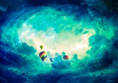 Hot Air Balloons Clouds Blue 4K Wallpaper