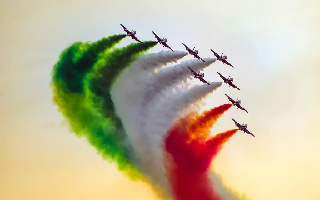Indian Airforce Fighter Jets Smoke 4K Wallpaper