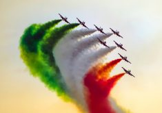 Indian Airforce Fighter Jets Smoke 4K Wallpaper