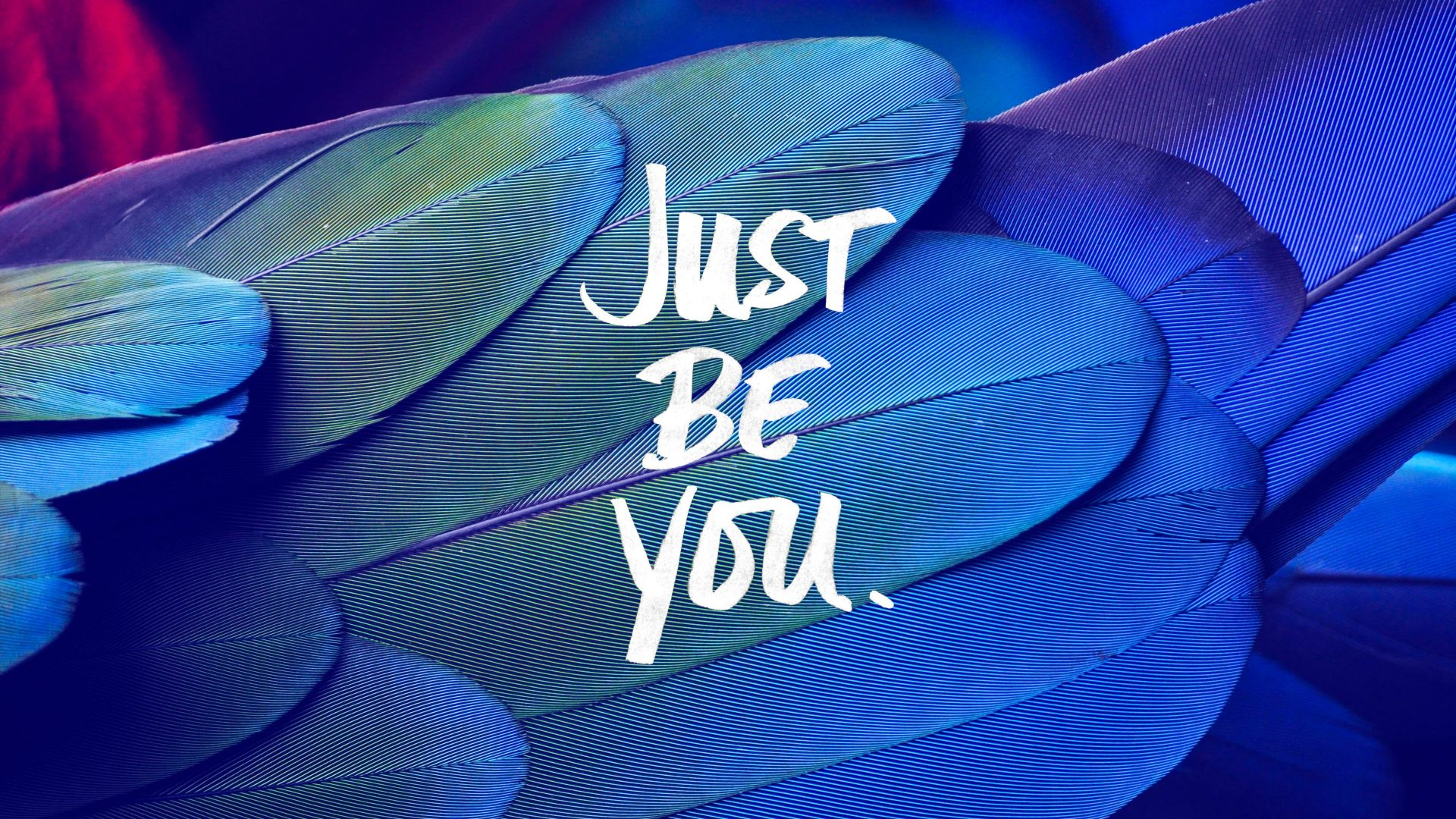 Just Be You Quote Feathers Blue 4k Wallpaper Best Wallpapers