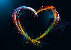 Love Heart Colorful 4K Wallpaper