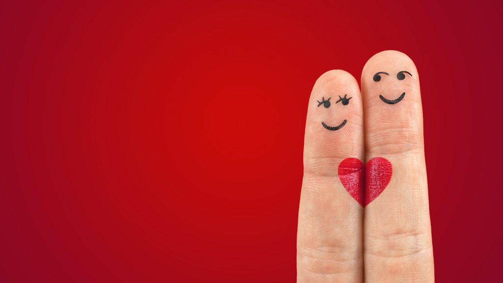 Love Heart Fingers Red 5K Wallpaper