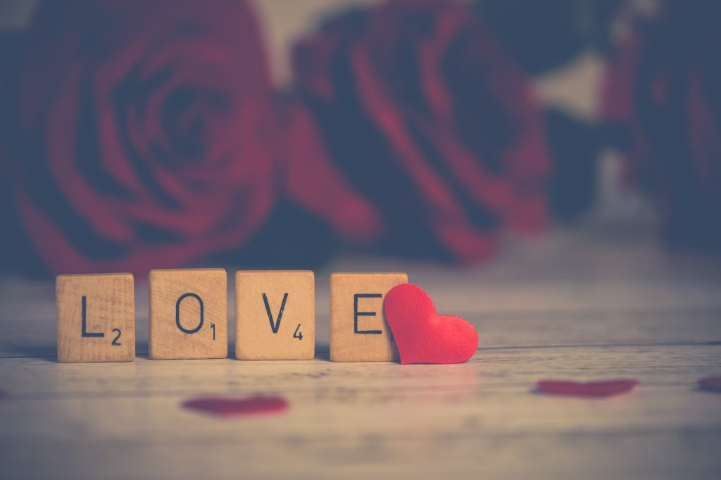 Love Heart Red Flowers 4K Wallpaper