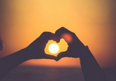 Love Heart Sunset Sunrise Silhouette Sun 4K Wallpaper