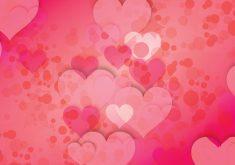 Love Hearts Circles Pattern Pink Red 4K Wallpaper