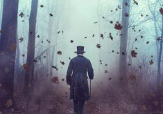 Man Person Magician Hat Maple Leaves 4K Wallpaper