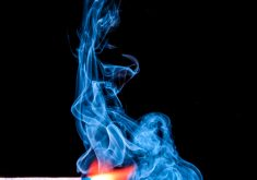 Match Stick Blue Fire Orange Smoke 4K Wallpaper
