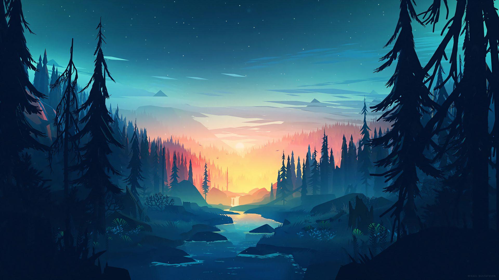 Minimal Minimalist Nature Sunrise River 8k Wallpaper Best Wallpapers