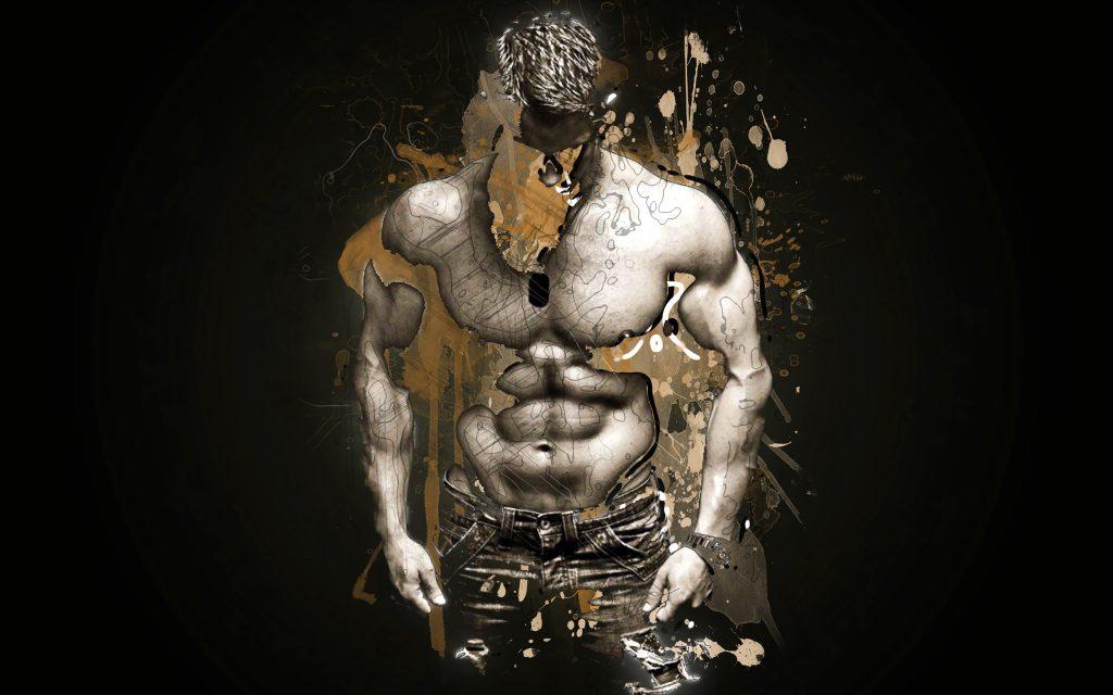 Muscles Man Person Art Artistic Brown 4K Wallpaper