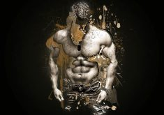 Muscles Man Person Art Artistic Brown 4K Wallpaper