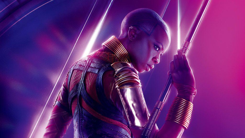 Okoye Avengers Infinity War Poster 8K Wallpaper