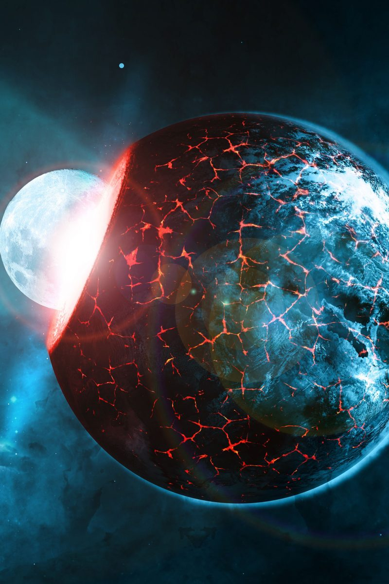 Planets space blue red collision stars 4k wallpaper best - Blue space 4k wallpaper ...