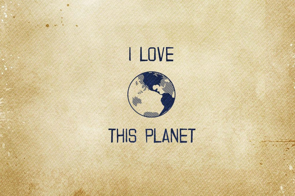 Quote Earth Planet Love 4K Wallpaper