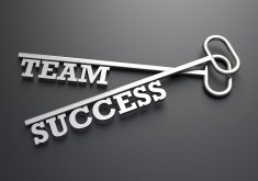 Quote Success Team Grey 4K Wallpaper