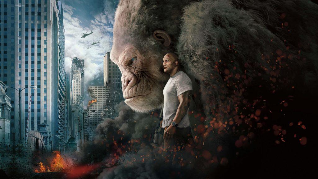Rampage Dwayne Johnson Movie Poster 8K Wallpaper