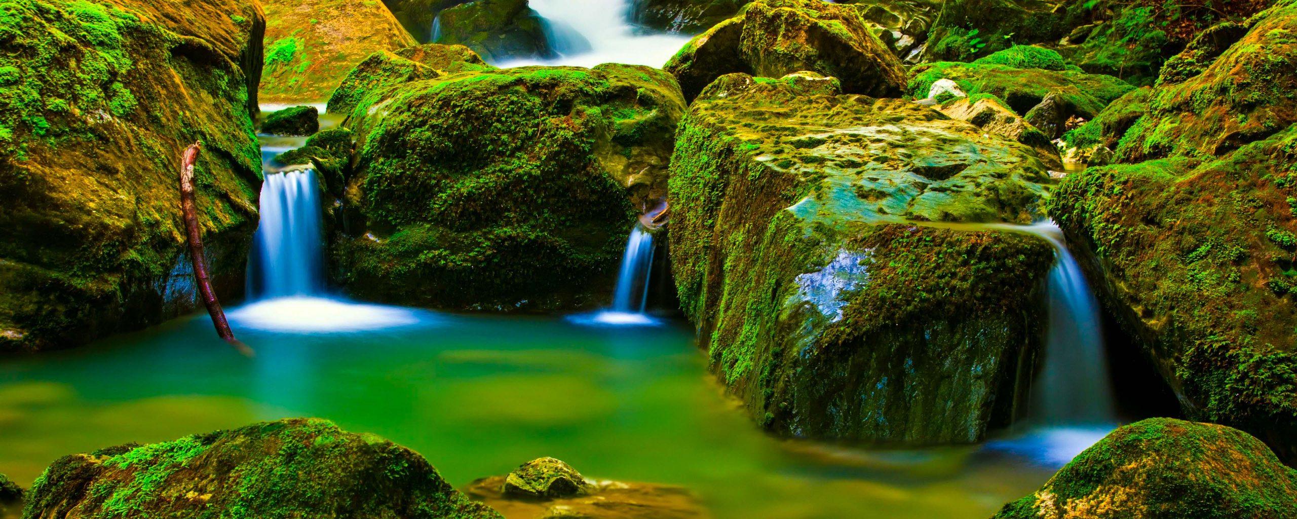 Green Socom 16 In Hdwallpaper: River Water Green Rocks Nature 4K Wallpaper