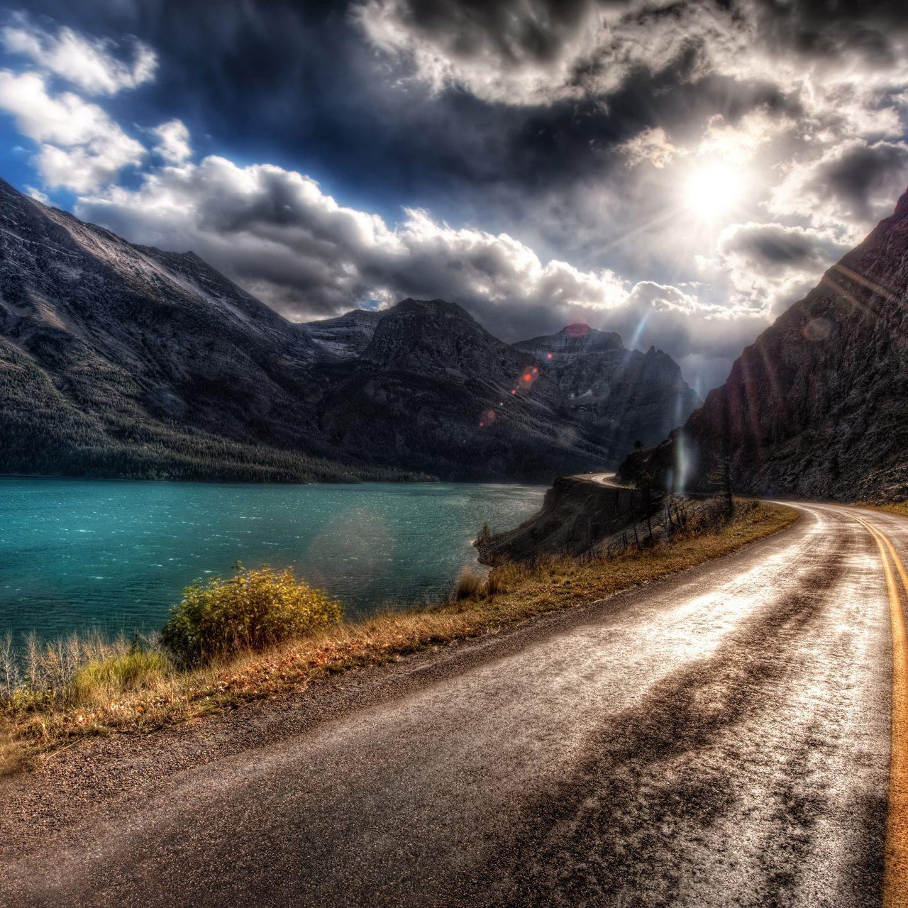Smartphone Wallpaper 4k Nature: Road Path Way Mountain Nature Water 4K Wallpaper
